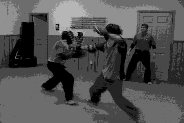 IRT Full Contact Stick Fighting With Fencing Masks Photo 1 For TIE