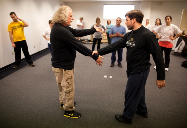 Gary Haffey and Scott Sober Teaching Self Defense