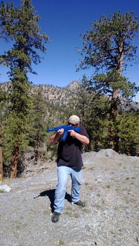 Rich AK47 Blue Gun