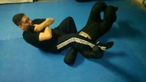 Eddie with Submission Master Grappling Dummy
