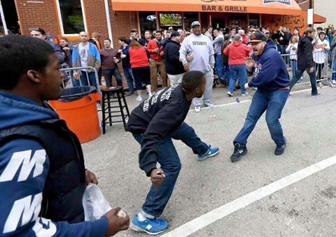 Baltimore Rioter with Knife