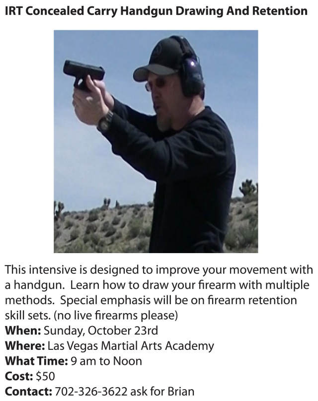 IRT Handgun Drawing And Retention Intensive